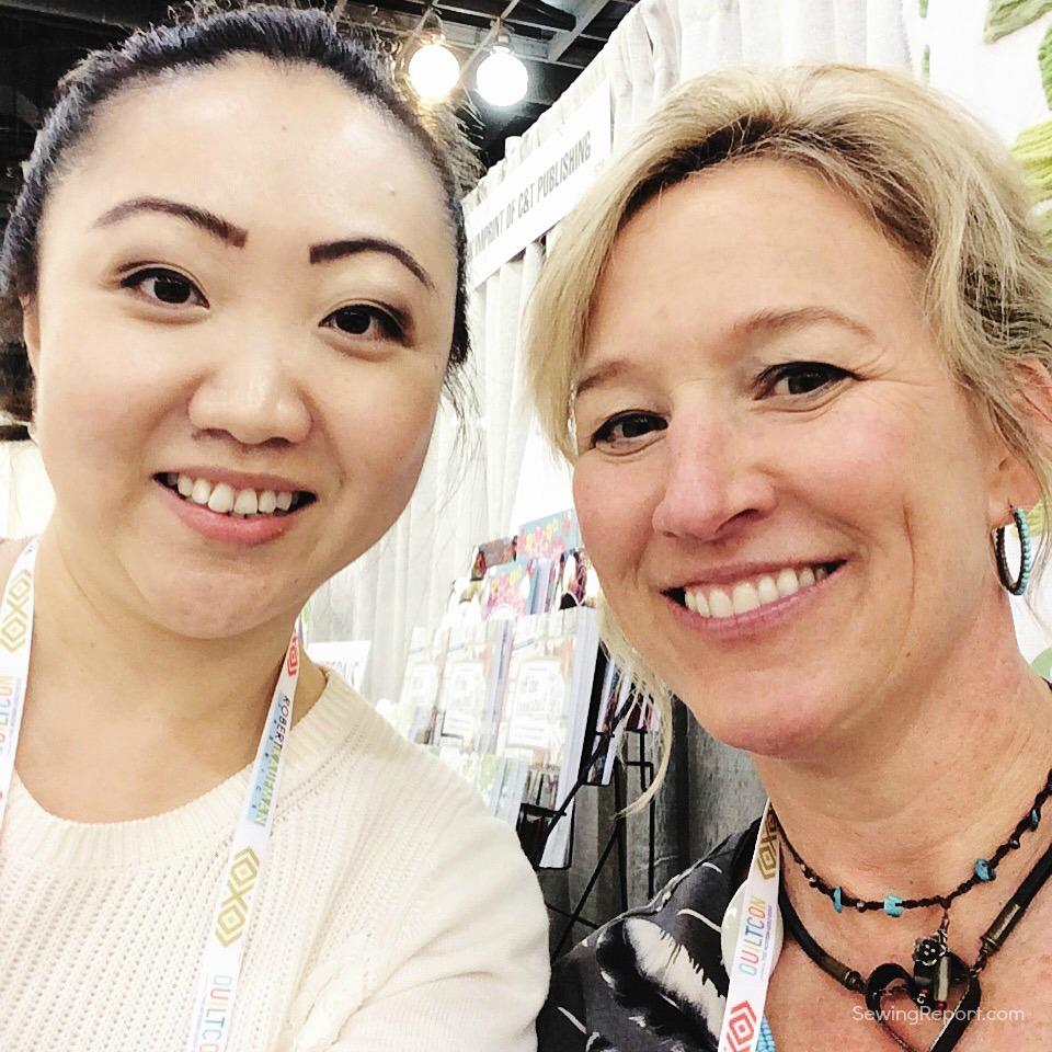 Sewing Report Jennifer Moore QuiltCon Selfie Jennifer Sampou