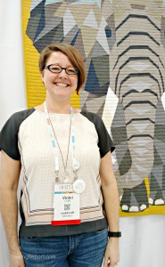 Sewing Report Jennifer Moore QuiltCon Selfie Violet Craft Elephant Abstractions