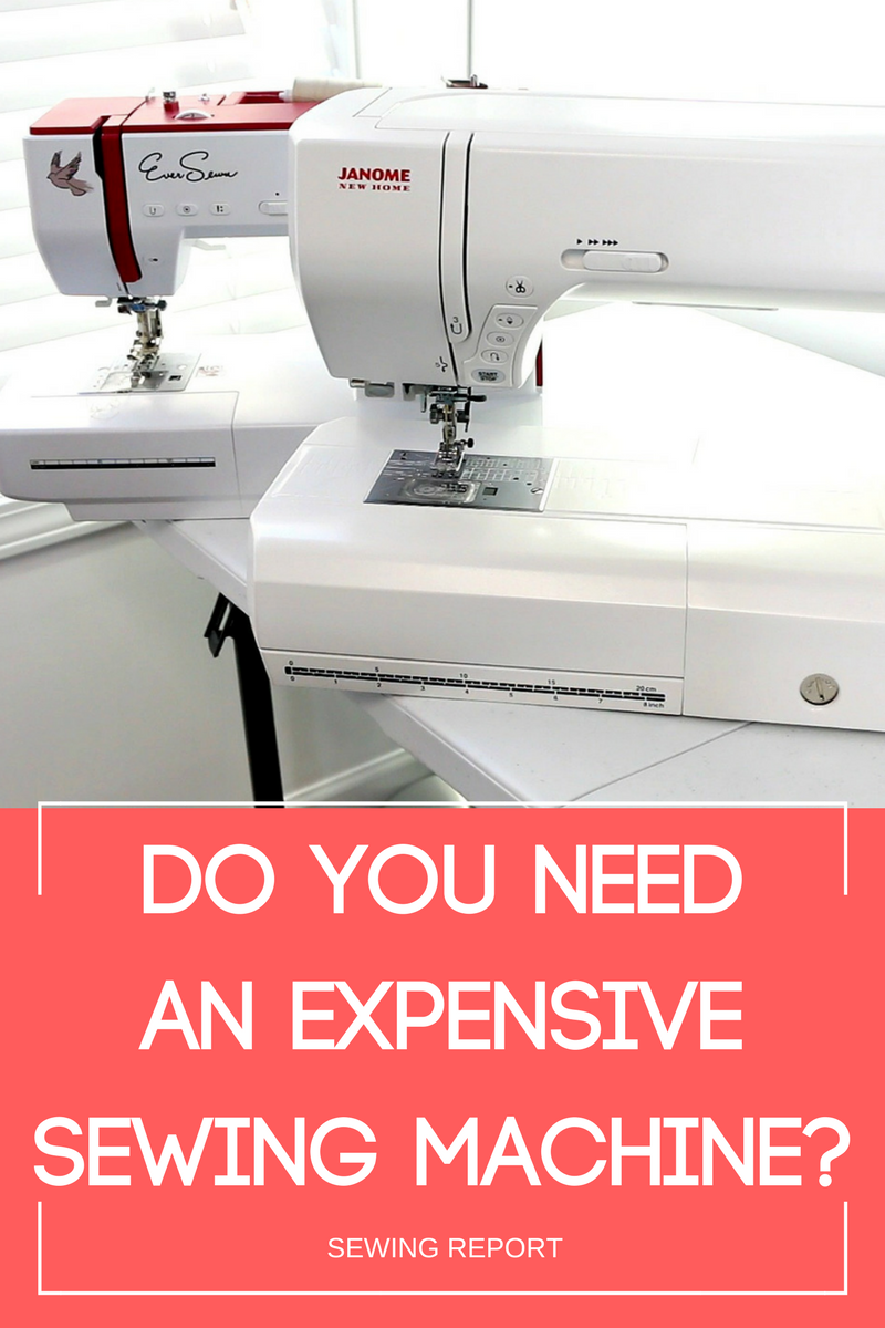 PINTEREST Expensive Sewing Machine