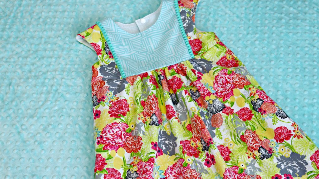 Fresh Stitch Patterns Playgroup Dress Modern Eclectic by Blend Fabrics Khristian Howell Front Full