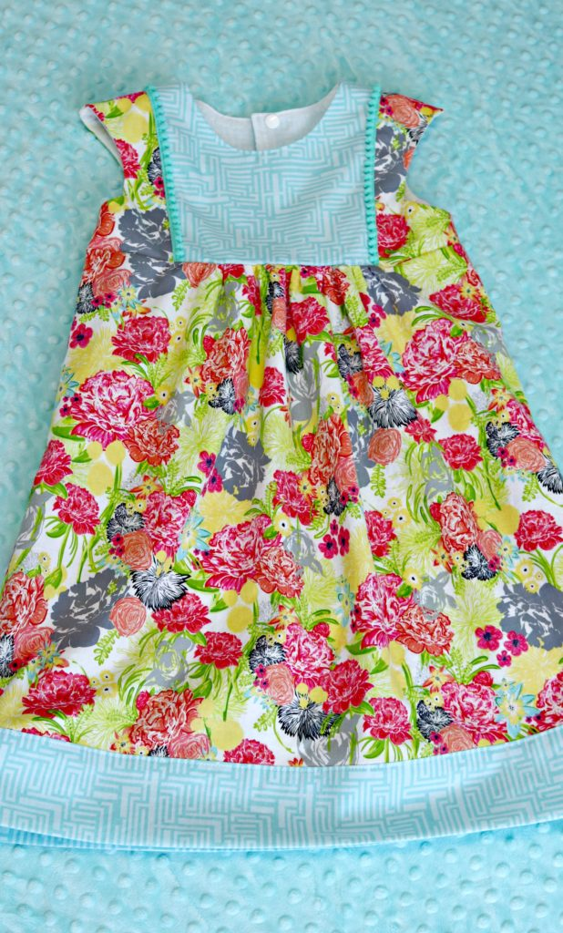 Fresh Stitch Patterns Playgroup Dress Modern Eclectic by Blend Fabrics Khristian Howell front full 2