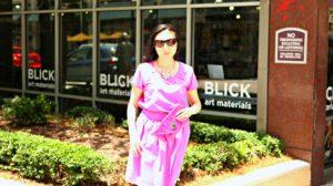 Jennifer Pink Outfit Blick Art Materials Sunglasses Fuschia Clutch VERY Sunny EDITED