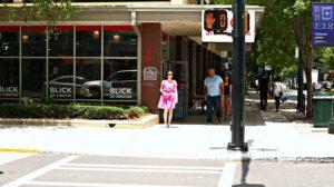 Jennifer Pink Outfit Fuschia Clutch Sunglasses DISTANCE Blick Art Materials Store EDITED