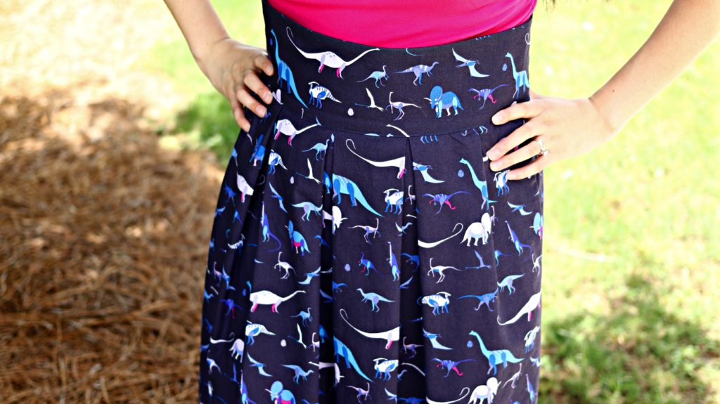 Dinosaur Purse Skirt Fabric skirt