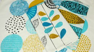 Fabricdotcom Easy DIY Tea Towels cloud 9 fabrics flat