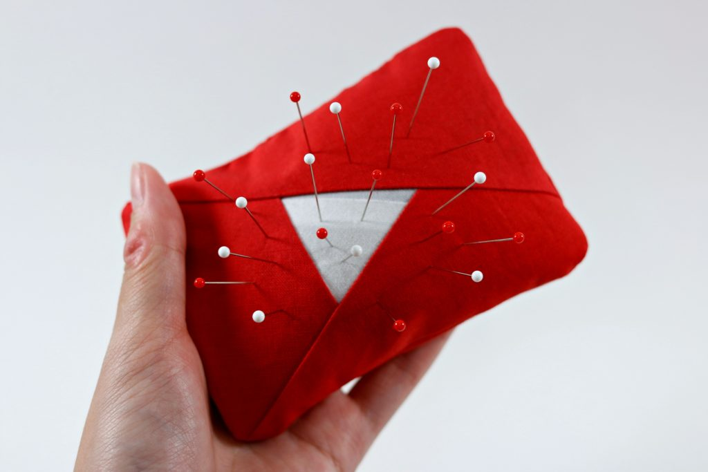 YouTube Logo Pin Cushion Sewing 1