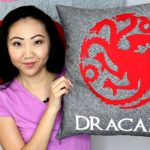 DRACARYS! Game of Thrones Easy DIY Pillow | House Targaryen Dragon Sigil