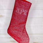 DIY Sparkly Monogrammed Christmas Stockings | Handmade Holidays