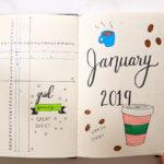 Bullet Journal January 2019 Monthly Spread | BUJO FOR BEGINNERS