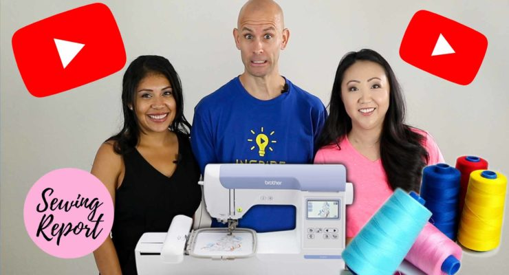 YouTubers Use an Embroidery Machine for the 1st Time | Brother PE800