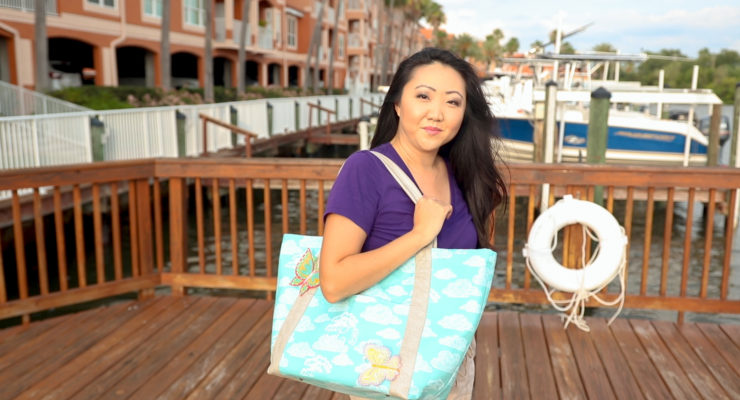 Sewing a Noodlehead Poolside Tote | Making Tips
