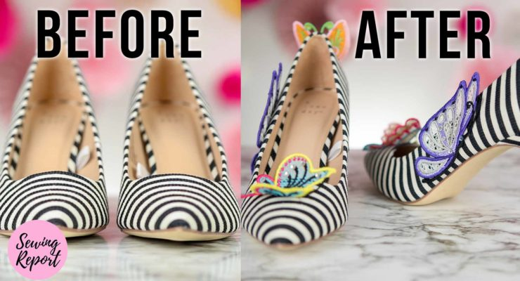 DIY Fashion Target Butterfly Shoes