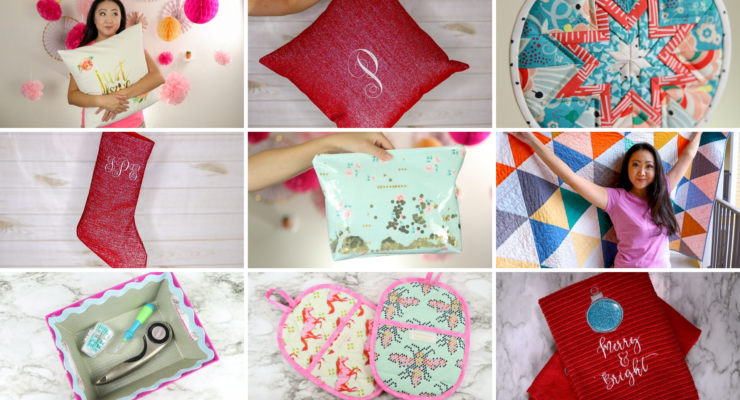 DIY Christmas Gift Ideas | 10 Sewing, Quilting, Embroidery Projects
