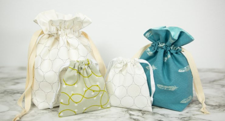 Super Simple Drawstring Bags – Lined & Unlined | Sewing Reusable Gift Bags